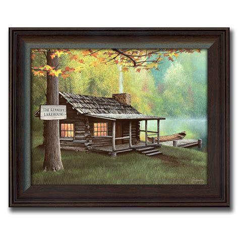 Primitive Home Decor Coupon Code personalized lake cabin canvas print