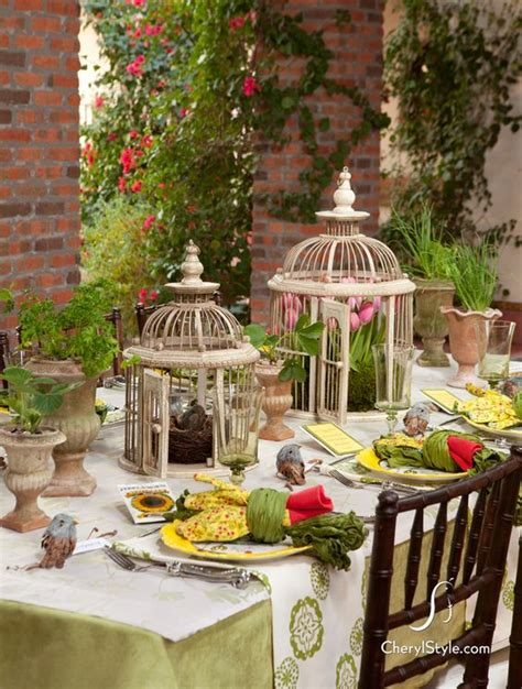 spring tablescape set the table on http www cherylstyle com spring
