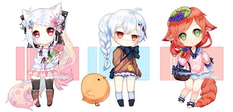anime batch chibi commission batch 1 by liesellia on deviantart