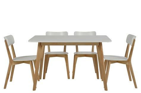 but table et chaise table 4 chaises smogue bois blanc mykaz
