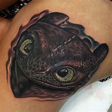 adorable toothless dragon tattoo venice tattoo art designs