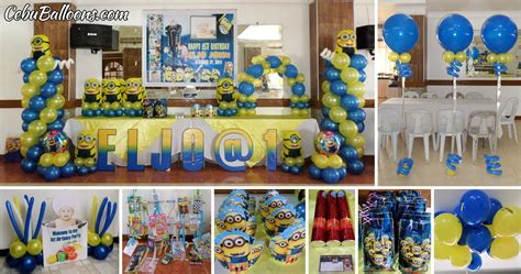 City Minion Decorations by Letter Standees Cebu Balloons And Supplies