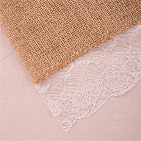 burlap table runner with lace burlap table runner with lace edging confetti co uk