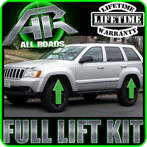05 Jeep Grand Lift Kit 05 10 Jeep Wk Grand 3 Quot Front 3 Quot Rear