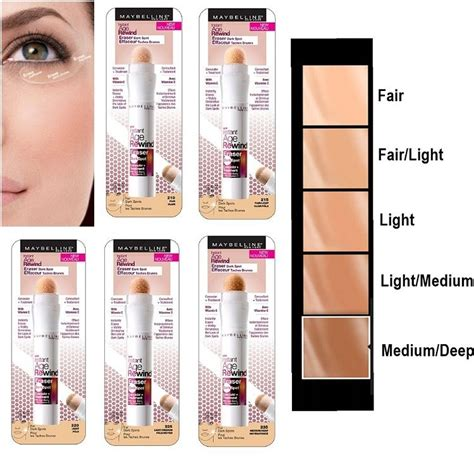 Maybelline Instant Age Rewind Shade Light maybelline instant age rewind eraser spot treatment concealer select shade ebay