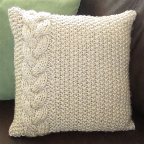 Two Pcs Pillow Cases 90436 braided cable chunky knit pillow cover knitting