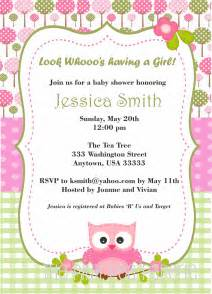 owl baby shower invitations free owl baby shower invitation with pink and green by