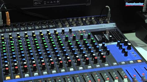 Mixer Yamaha Mg24 Xu yamaha mg series mixer overview sweetwater at winter namm 2014