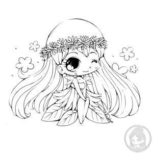 princess vivian coloring pages daisy mini chibi lineart by yampuff princess vivian