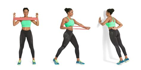 Exercise Resistance Band 3 exercises to tone back and bra bulge how to a circular