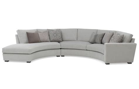 curved sectionals newport curved sectional with bumper new rc furniture