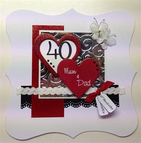 Handmade 40th Anniversary Cards