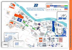 Boise State Map by New Zone Specific Parking For 2015 2016 Update