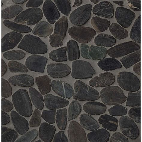 bedrosians hemisphere sliced pebble mosaic polished tile