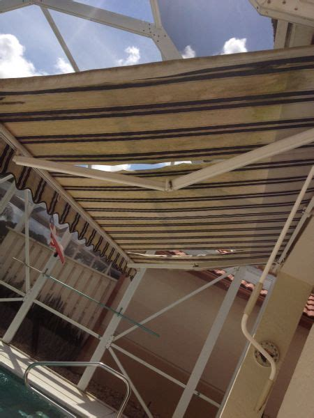 awning repairs awning repairs before pictures awning contractors designers inc awning