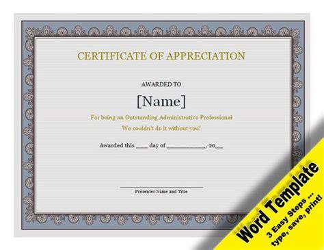 Certificate Of Appreciation Editable Word Template Template For Certificate Of Appreciation In Microsoft Word
