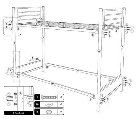bunk bed instructions metal bunk bed twin over full assembly instructions www