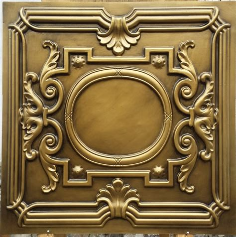 pl15 lacquer painting ceiling tiles antique brass color three dimentional decor wall panels