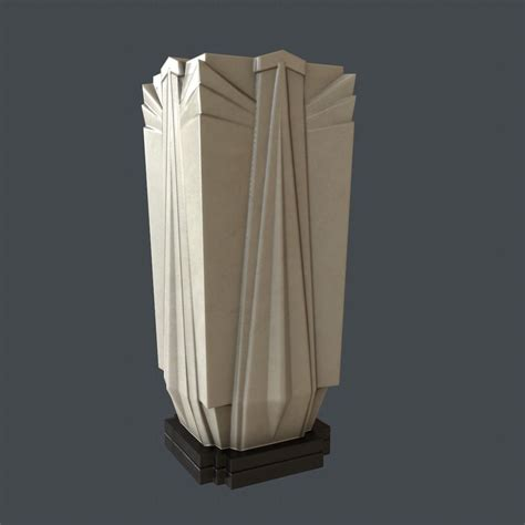 deco vase 3d model deco vase ready vr ar low poly obj