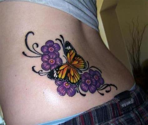 flores tattoo designs mariposa con flores violetas butterfly designs