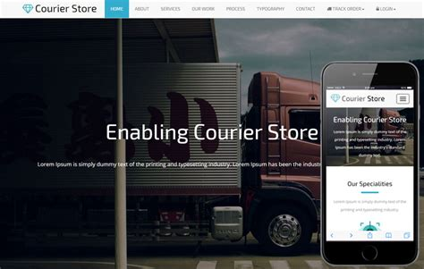 Courier Store A Corporate Business Bootstrap Responsive Web Template Courier Website Template