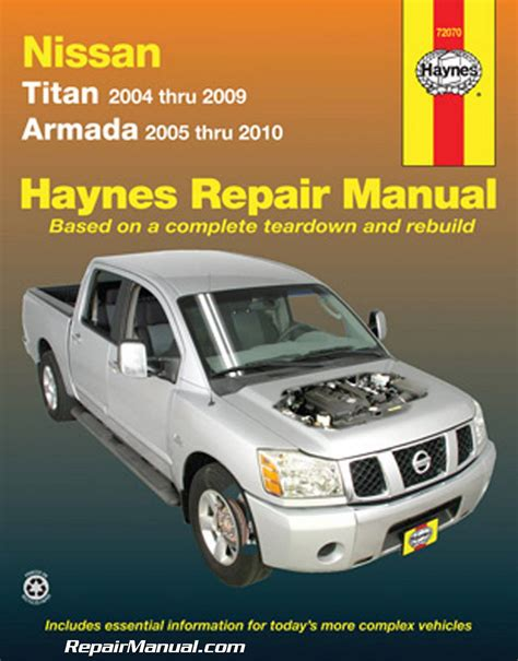 car repair manuals online free 2009 nissan titan spare parts catalogs haynes 2004 2009 nissan titan 2005 2010 nissan armada auto repair manual