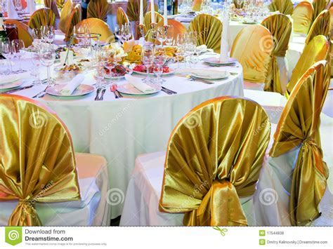 Catering Service Table Decoration Stock Photo   Image