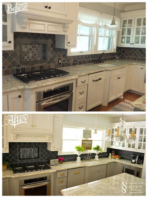 diy chalkboard backsplash before and after decoist
