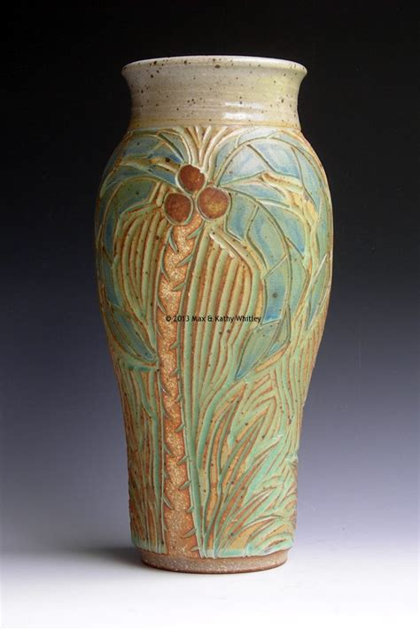 Palm Tree Vase Palm Tree Vase Easy Street Leather Amp Kathy Whitley Pottery