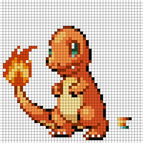 Charmander Pixel Template charmander by supersonic3225 on deviantart