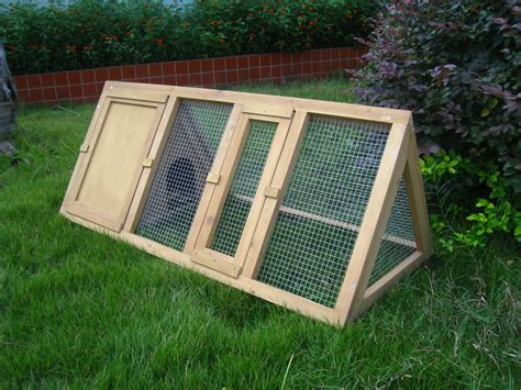 outside cages wooden triangle rabbit hutch and run cage guinea pig ferret coop running outdoor ebay