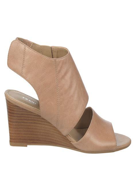 franco sarto sandals franco sarto kressa wedge sandals in beige taupe lyst