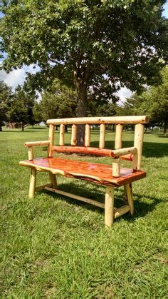 cedar log bench or coffee table by jamesrobinson on etsy cedar log benches benches chairs handcrafted log