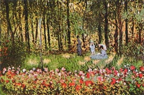 the monet family in their garden at argenteuil the artist s family in the garden at argenteuil print
