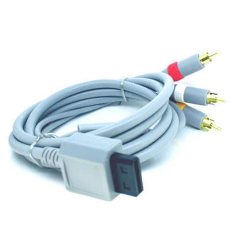 Wii Av Cable By Onejersey wii composite av tv cable lead yellow white ebay