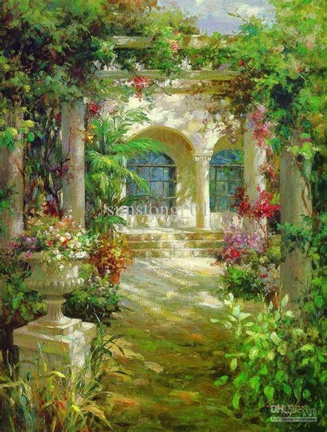 impression painting flowers garden home arte