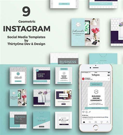 Geometric Instagram Templates Set Free Download Free Instagram Templates