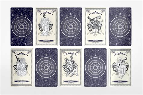 tarot card template psd tarot card mockup on behance