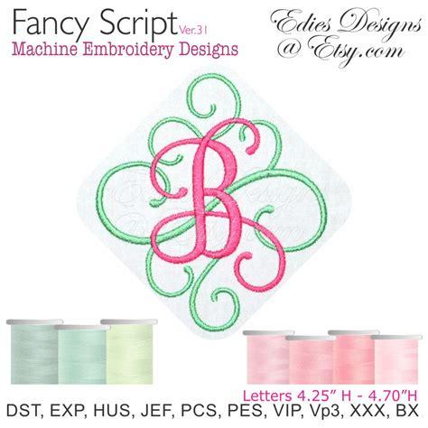 fancy font design online fancy script ver 31 monograms machine embroidery designs