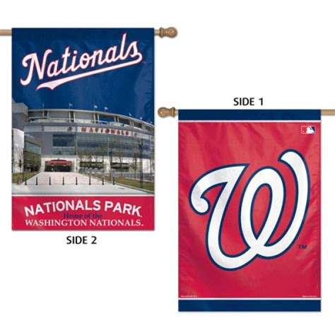 double sided house flags washington nationals double sided house flag your washington nationals double sided