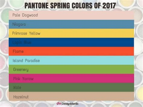 pantone spring 2017 enchanting color palettes inspired by pantone spring 2017