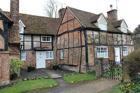 beams cottage used as the vicarage in vicar of