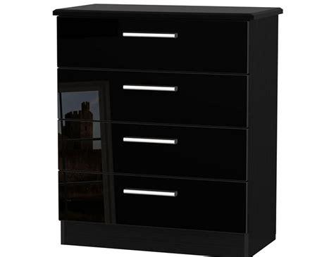 Black High Gloss Drawers by Black High Gloss 4 Drawer Chest