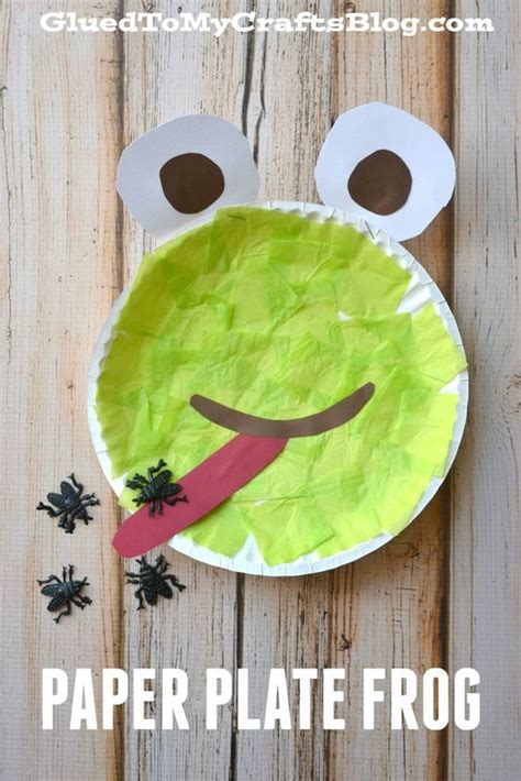 Frog With Paper - paper plate frog kid craft crafts so and kid