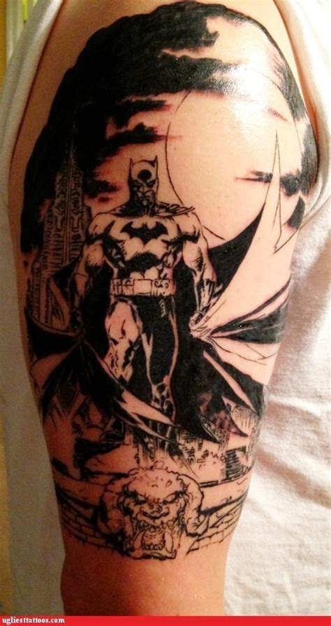 batman tattoo shading bad batman symbol