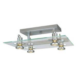 Home Depot Kitchen Ceiling Lights Eglo Focus 4 Light Matte Nickel Ceiling Semi Flush Mount Light 20125a The Home Depot
