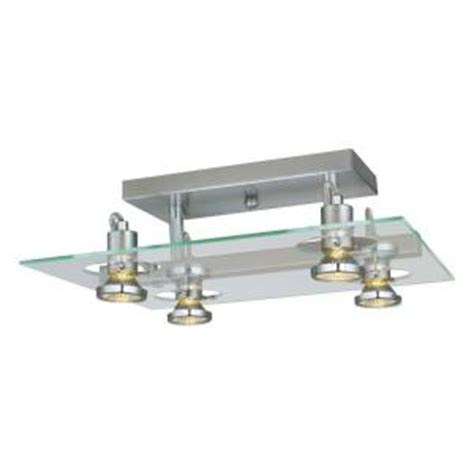 home depot kitchen lights ceiling eglo focus 4 light matte nickel ceiling semi flush mount