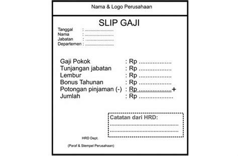 format slip gaji bulanan download slip gaji karyawan swasta excel new style for