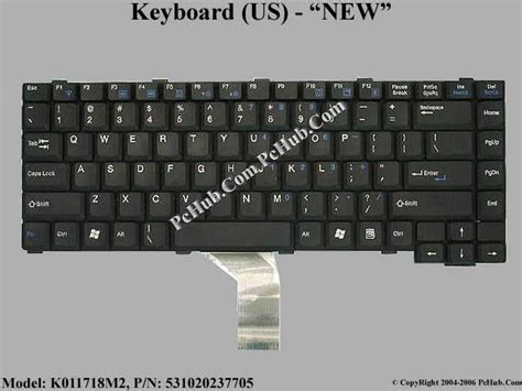 Keyboard Laptop Nec nec versa e680 keyboard k011718m2 k011718m5 531020237705