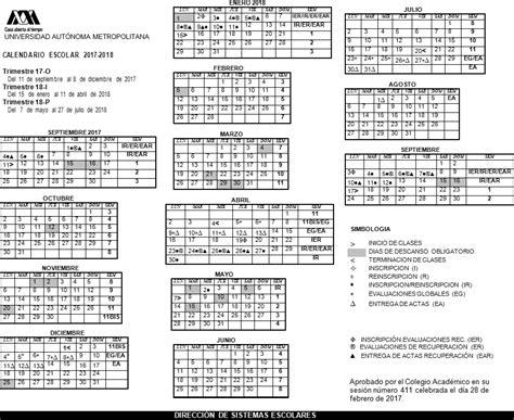 Calendario Escolar Uam Uam Universidad Aut 243 Noma Metropolitana Calendario